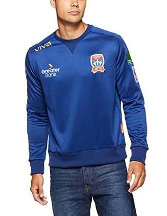 Viva Men's Newcastle Jets Player Authentic Sweat Shirt Blue Hoodies & Sweatshirts, Blue, Xtra Small