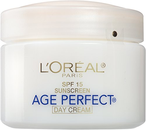 L'Oreal Paris Skincare Age Perfect Day Cream, Anti-Aging Face Moisturizer with SPF 15 and Soy Seed Proteins, 2.5 oz. (Best All Day Sun Cream)