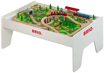 BRIO - 96 Piece Brio Railway Set with Play Table  sc 1 st  Amazon.com & Amazon.com: BRIO - 96 Piece Brio Railway Set with Play Table: Toys ...