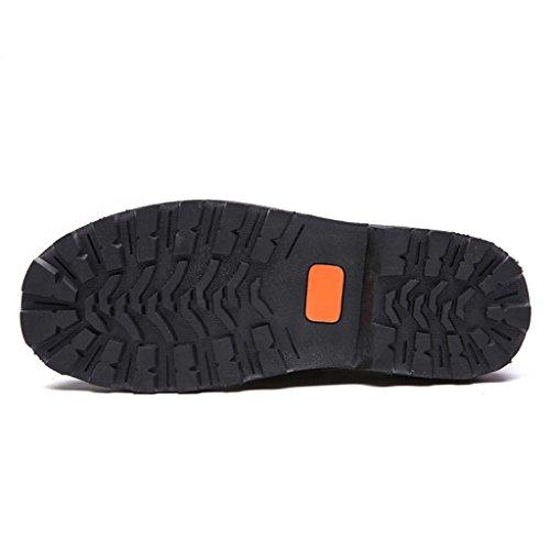 ZXCV Zapatos al aire libre Zapatos ocasionales de los zapatos de los hombres redondos Marrón