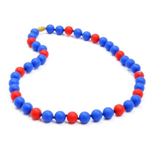(Chewbeads MLB Gameday Teething Necklace, 100% Safe Silicone - Toronto Blue Jays)