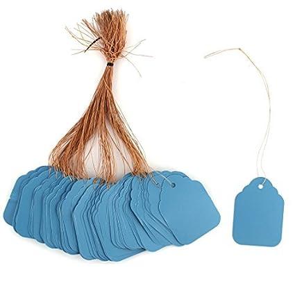 eDealMax plástico jardín Hogar del rectángulo de la planta en forma de semilla Cuelgue etiqueta de