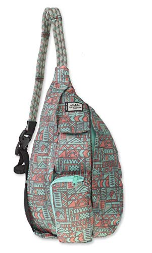 (KAVU Mini Rope Pack Sling Bag Crossbody Shoulder Polyester Sling Backpack - Pastel Chalk)