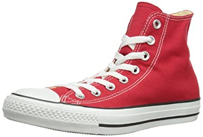 Converse M9621: Chuck Taylor All Star High Top Unisex Red Classic Sneakers