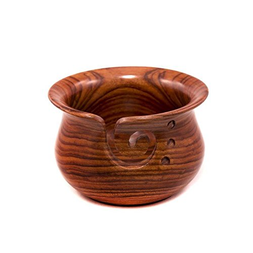 Naaz wood arts Wooden Yarn bowl hand made with Mango wood for knitting and Crochet- Big Size - 4'X6 by Naaz wood arts