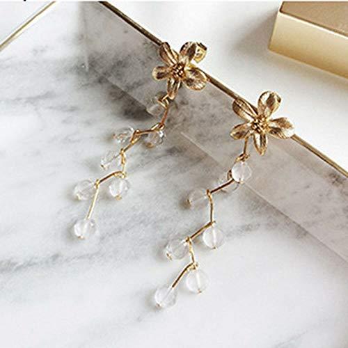 - Orchid Flower Tassel Wedding Drop Earring Delicate Party Ear Jewelry Bridal