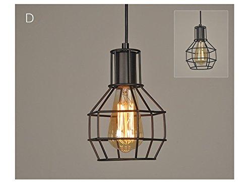 Lampade vintage industriali nere in metallo paralume con telaio