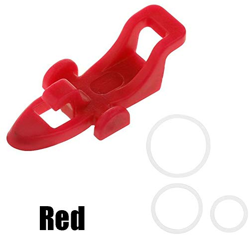(Ameglia Fishing Hook Secure Keeper Lure Bait Holder with 3 Rubber Rings for Fishing Gear (Color - red))