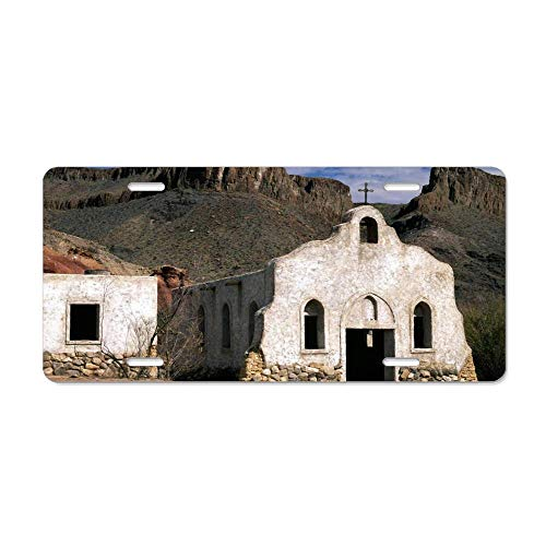 Kingsinoutdoor Mission in Big Bend Ranch Texas Personalized Novelty License Plates, Customized Decorative Front Car Tag Metal for US Vehicles 12 x 6 Inch (Texas Best Ranch Girl)