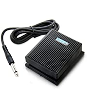 HQRP Foot Switch Sustain Pedal works with Alesis SR-16 / SR-18 / SR16 / SR18 Portable Classic Drum Machine Damper Pedal + HQRP Coaster