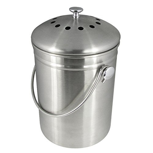 premium-quality-stainless-steel-compost-bin-13-gallon-includes-charcoal-filter