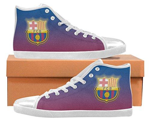 Sneakers Alte Da Uomo Per Gli Appassionati Di Futbol Club Barcelona Shoes02
