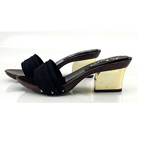 7 Noir Confortable Nero K28201 shoes Talon kiara CM Sabot Cq74wxEX