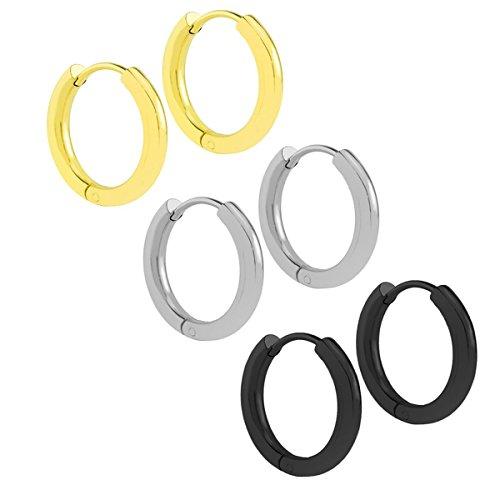 nicever-stainless-steel-clip-on-huggie-hinged-hoop-earrings-ear-piercings-set-for-mens-womens
