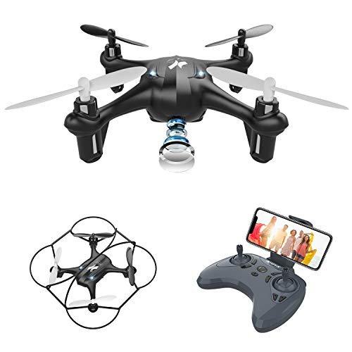 Mini WiFi FPV HD Camera Drone, Drone with Camera for Kids, Drone for Kids Suitable for Children Beginners,Intelligent Gravity Sensing,3D Flips, Headless Mode,One Key Operation,2 Batteries(AT-96)