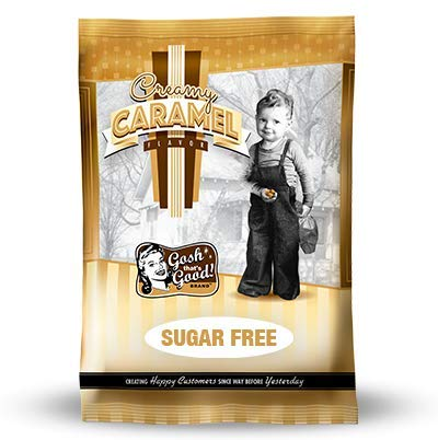 Sugar Free Creamy Caramel 2lb. Bag  by Gosh That's Good! Brand