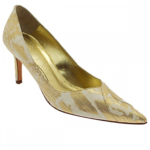 Court Gold High Magrit Shoe Gold cream Multi Heeled IxTIqOCgw