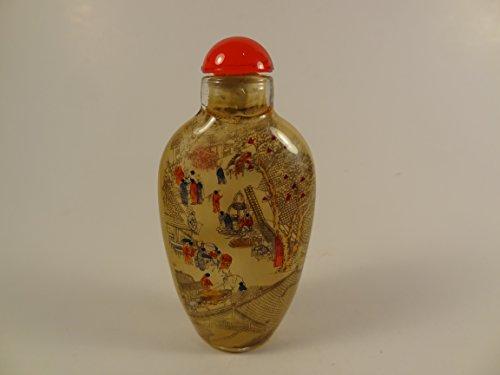 Inside-bottle Painting Glass Snuff Bottle