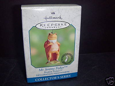 Hallmark Keepsake Ornament - Mr. Jeremy Fisher (The World of Beatrix Potter) (2000) QE08441 Beatrix Potter Christmas