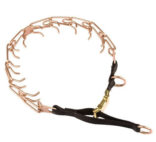 Gold Prong Loop (Herm Sprenger Curogan Rottweiler Pinch Collar with Nylon Loop and Quick Release Buckle - 50004 (67) 1/8 inch (3.25 mm) - Size 23 inch (58 cm))