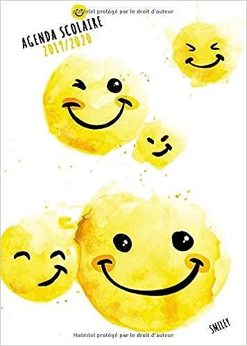 Agenda Scolaire 2019 2020 Smiley: Août 2019 à Août 2020 ...