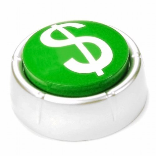 Easy Money Kaching Button - funny gift for entrepreneurs, sales and business people ()