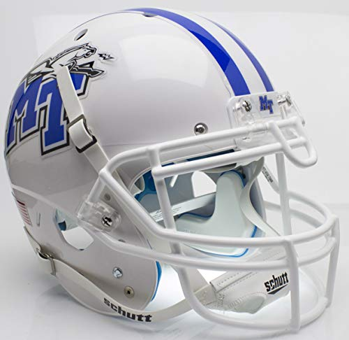 - NCAA Middle Tennessee State Blue Raiders On-Field Authentic XP Football Helmet, White, One Size