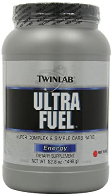 Twinlab Ultra Fuel Super Complex and Simple Carb Ratio, Energy, Fruit Punch, 52.8 Ounce (Pack of 2) by Twinlab
