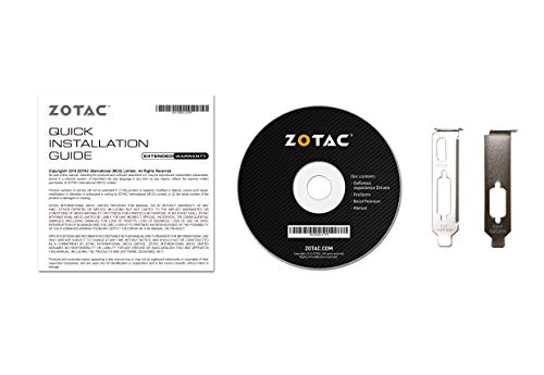 ZOTAC GeForce GT 710 1GB DDR3 PCIE x 1 , DVI, HDMI, VGA, Low Profile Graphic Card (ZT-71304-20L) by ZOTAC (Image #7)