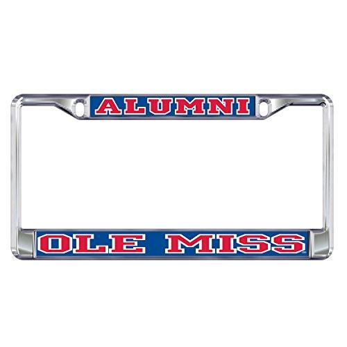 Mississippi Plate Frame DOMED OLE MISS ALUMNI PLATE ()
