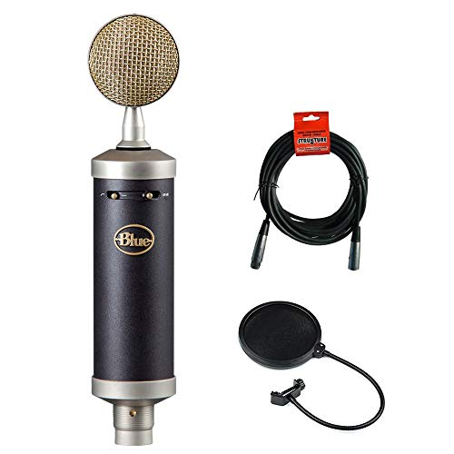 Blue Baby Bottle SL Studio Condenser Microphone with 20' XLR Cable & Pop Filter