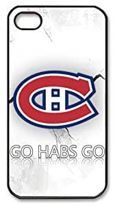 icasepersonalized Personalized Protective Case for iPhone 4/4S - NHL Montreal Canadiens Go Habs Go by ruishername