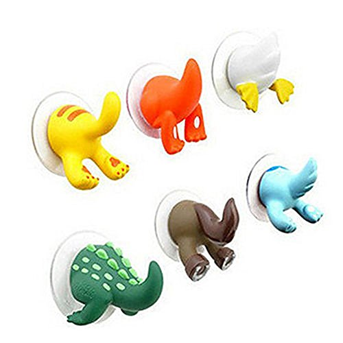 Animal Tails Baby Shower Cloth Towel Bathroom Suction Cup Hooks Hangers - Parasite Retro