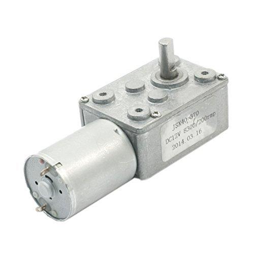 Réduction Ratio 8300RPM / 200rpm deux broches de raccordement de vitesse du moteur Worm DC12V