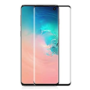 [2 Pack] Yoyamo G912 Screen Protector for Samsung Galaxy S10 Plus- Full Coverage- Anti-Bubble, Black