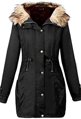 youtobin-womens-slim-faux-fur-hooded-coat-thick-cotton-padded-clothes-2xl-black