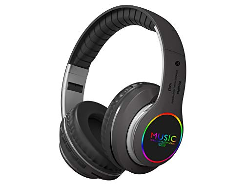 Faltbarer Led-Funkkopfhörer Bluetooth Music Sports Insert Wireless Headphones Grau