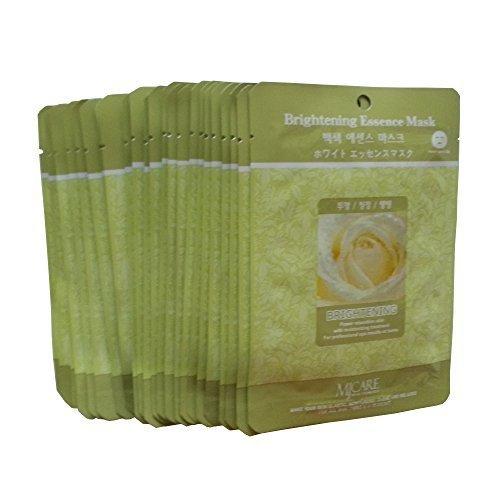 Honey Andalou Naturals Pumpkin (MJ Brightening Essence Face Skin Mask Pack Elastic,Moisturized,Clean,Relaxed 30Pcs (Brightening))