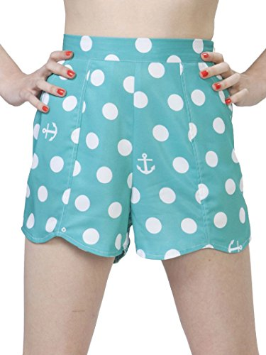 Iron-Fist-Womens-Acapolka-Scallop-Shorts-Ocean-Blue