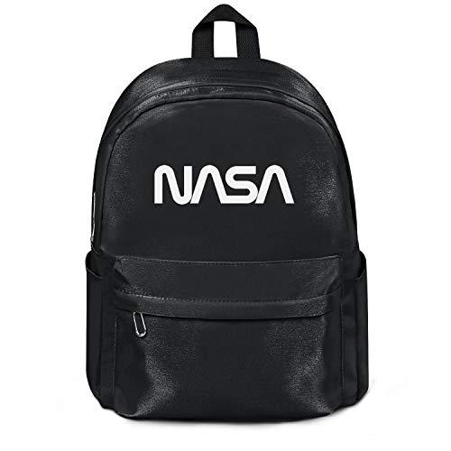 Womens Girl Boys Bag Purse Fashion Nylon Durable School Backpack Old-NASA-Logo- Bag Purse Black
