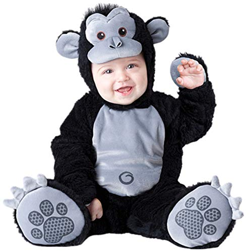 Haole Zaily Infant Halloween Costumes Toddler Boys/Girls Unisex Baby Romper Outfits (9-12 Months, Monkey)]()