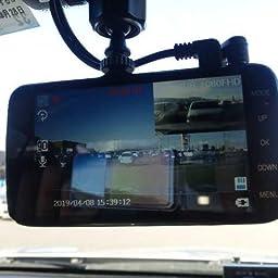 Amazon ドライブレコーダー 前後カメラ 1080p フルhd 1800万画素 4インチ 170 広角視野 1年保証 日本語取扱説明書 駐車監視 動体検知 暗視led搭載 常時録画 安全運転 G Sensor Wdr 高画質 デュアルドライブレコーダー リアカメラ バックガイド ドライブレコーダー本体