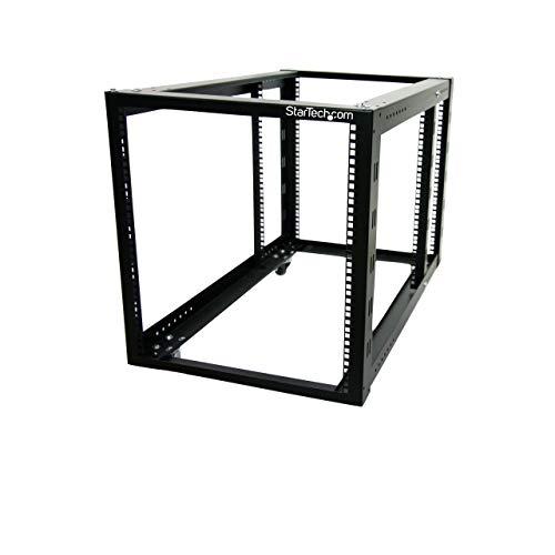 StarTech.com 4-Post Server Equipment Open Frame Rack Cabinet with Adjustable Posts & Casters - 12U (4POSTRACK12A) ()