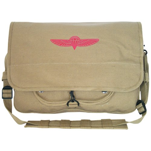 Khaki israelische Fallschirmjäger Courier Messenger Laptop-Schulter-Tasche