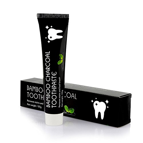 Bamboo Activated Charcoal Black Whitening Natural Stains Remover Toothpaste 3,7 Oz
