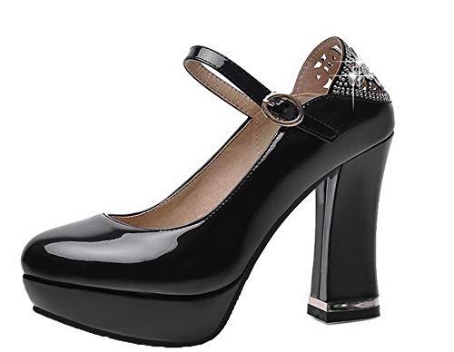 Couleur Agoolar Verni L Chaussures Boucle Fermeture Femme Unie D'orteil qq5wvpR