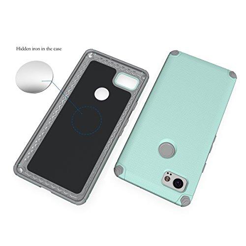 CarcasaGoogle Pixel 2 XL, LifeePro Funda de la Caja del Teléfono a Prueba de Golpes TPU + PC Armadura Combinada híbrida Caso de Alto Impacto Durable Phone Defender (Naranja) Verde