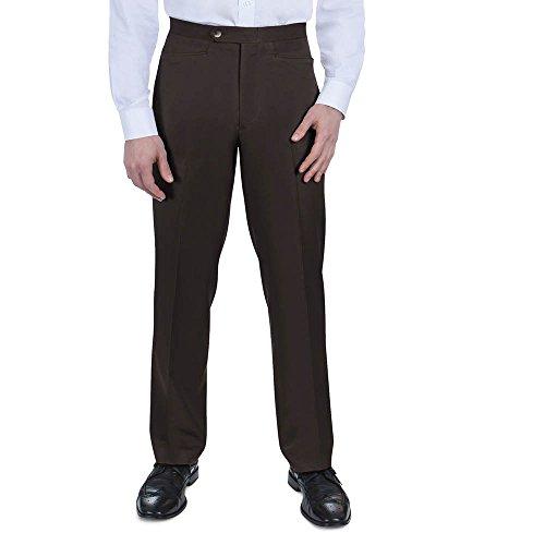 SANSABELT Men's Big & Tall Classic Fit Comfort-Waist Mini Check Pants With Western Pockets -