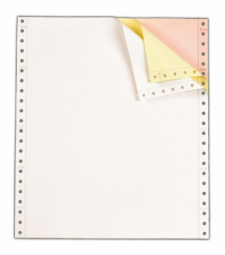 (TOPS Continuous Computer Paper, 3-Part Carbonless, Removable 0.5 Inch Margins, 9.5 x 11 Inches, 1100 Sheets, White/Canary/Pink (55179))