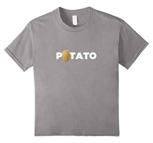 Kids Real Potato Funny Vegetable Food Funny Side Dish T-Shirt 8 Slate
